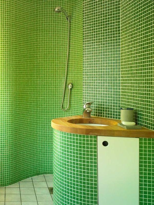 Savjeti kako koristit zelenu boju u kupaonici for Great small bathroom designs