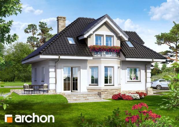 Projekat kuće sa potkrovljem – Archon 1  KucaSnova.com