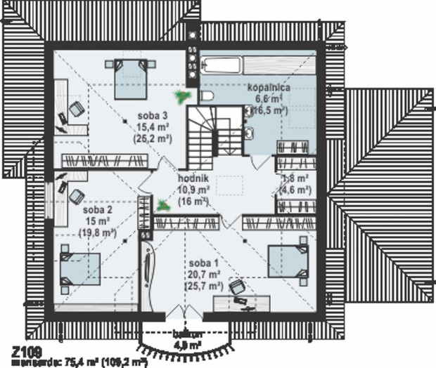 kuca-sa-potkrovljem-i-garazom-projekat-2-4
