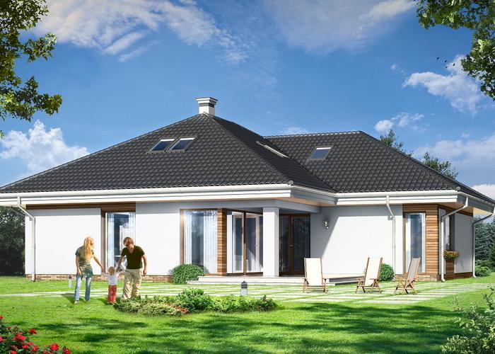 Projekat moderne prizemne kuće s garažom u obliku slova L  KucaSnova.com