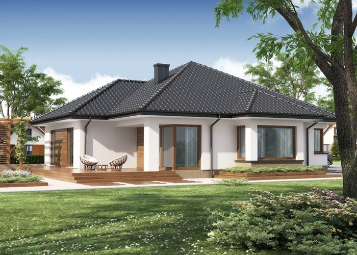 Projekat moderne prizemne kuće s garažom – Hipokrates | KucaSnova ...