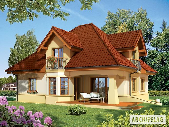 Predstavljamo vam projekat moderne kuće s potkrovljem i garažom ...