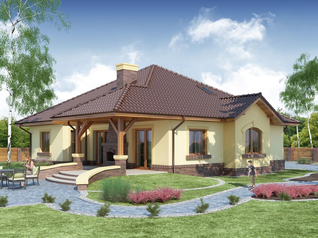 Projekat moderne prizemne kuće s garažom – Ramzes | KucaSnova.com