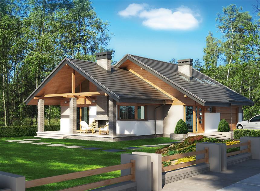 Projekat moderne kuće s potkrovljem i garažom – Maja 2 | KucaSnova ...