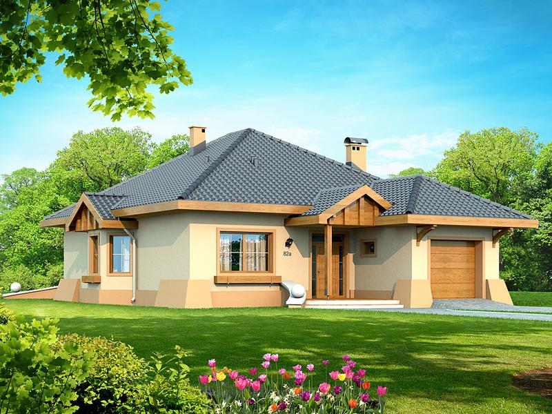 """Predstavljamo vam projekat moderne prizemne kuće """"Verona"""" koja je ..."""