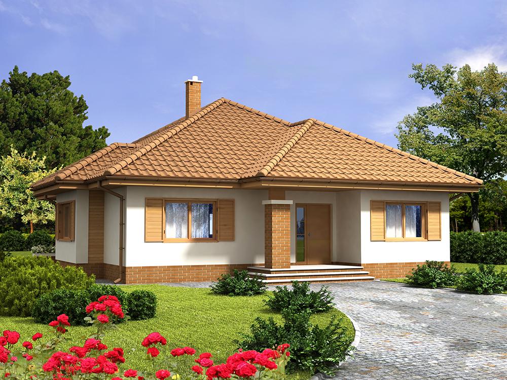 """Predstavljamo vam projekat moderne prizemne kuće """"Safran"""" koja je ..."""