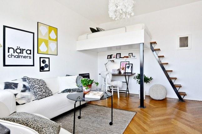 mali stan s velikim idejama skladnih 32 kvadrata. Black Bedroom Furniture Sets. Home Design Ideas