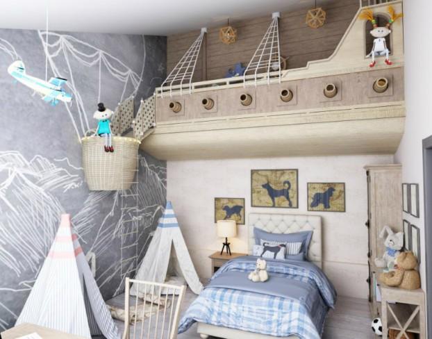 Pustolovna dječja spavaća soba  KucaSnova.com