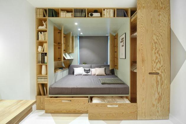Kreativno rješenje za spavaću sobu  KucaSnova.com