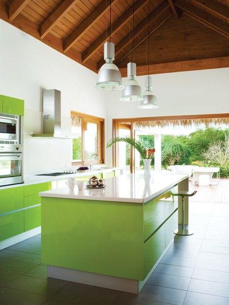 Kuhinja boje limete  KucaSnova.com