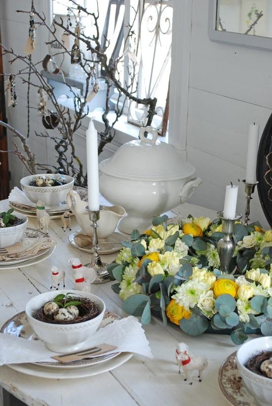40 primjera uređenja stola za Uskrs  KucaSnova.com