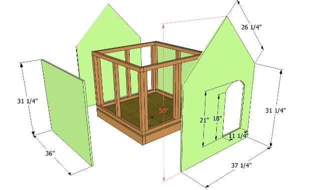 detaljan tutorijal kako da napravite ku icu za pse foto. Black Bedroom Furniture Sets. Home Design Ideas