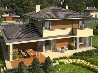 Atraktivna porodična kuća u mediteranskom stilu (DETALJAN PLAN)