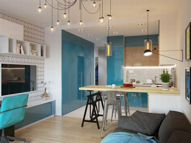 Mid Century Modern Studio Apartment