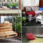 Izradite moderan i povoljan vrtni namještaj od paleta