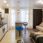 Interior studio apartments, a general plan