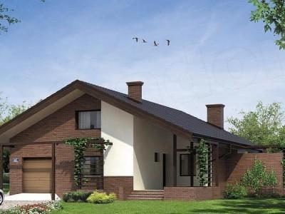 Lijepa kuća sa potkrovljem, dvije spavaće sobe, garažom i zimskom baštom (UNUTRAŠNJOST + DETALJAN PLAN)